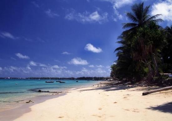 图瓦卢的海滩