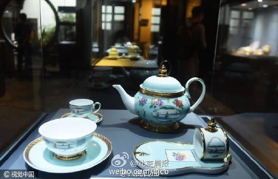 G20杭州峰会国宴用瓷公开展示