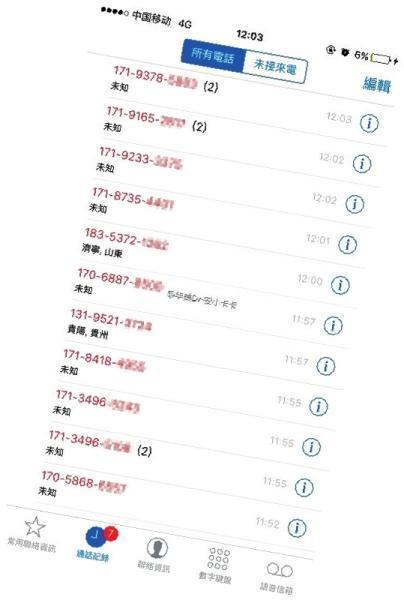 安小姐的电话来电显示,几十秒就有一个电话打入。