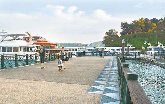 民进党上台后,来台陆客人数大减,南投县日月潭水社码头相对冷清。(图片来源:《中时》资料图)