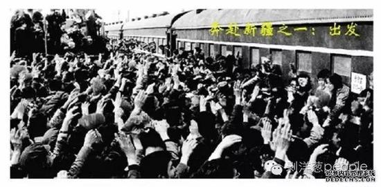 上海知青倍嗌侔新疆。图片来自收集。