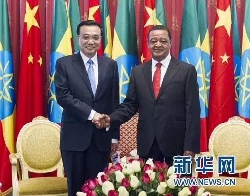 2014年5月6日,国务院总理李克强在亚的斯亚贝巴国家宫会见埃塞俄比亚总统穆拉图。