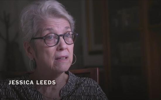 """利兹对纽约时报讲述30多年前特朗普在飞机上对她的""""骚扰""""。"""