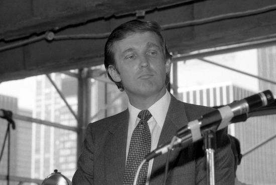 30多年前的特朗普。