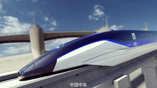 时速600千米快速磁浮列车作用图