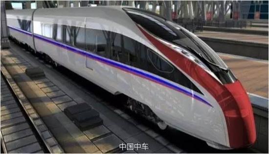 时速400公里可变轨距高速列车效果图