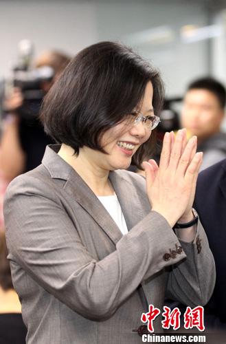 蔡英文 资料图 中新社发 陈小愿 摄