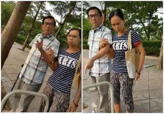 陈水扁发现被拍照,上前亲自恐吓拍摄者。(网络图)