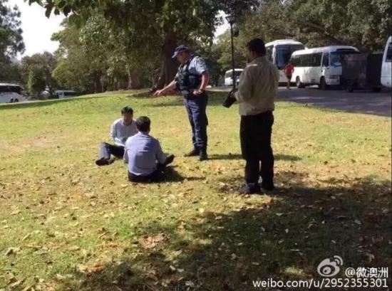 网传倆浙江人在澳洲随地大小便 被警察逮捕?