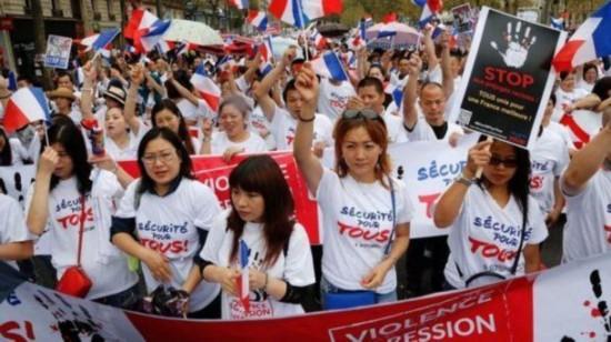 """外媒称法华人被当""""软柿子"""" 常年忍受歧视暴力"""