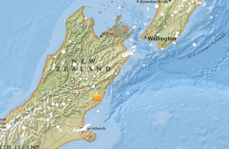 新西兰地震引发海啸不会严重影响我国沿岸