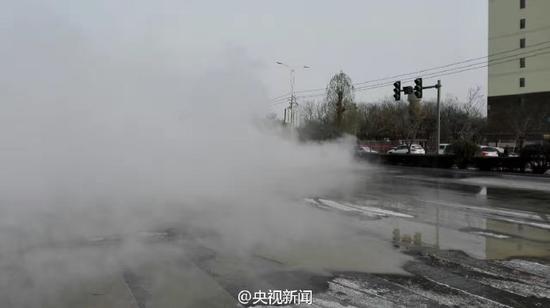 甘肃酒泉暖气管爆裂影响15万人供暖 昨晚降雪