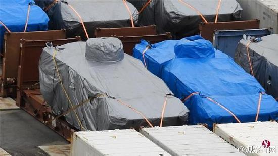"""台""""国防部""""回应装甲车香港被扣 :非台方军品"""
