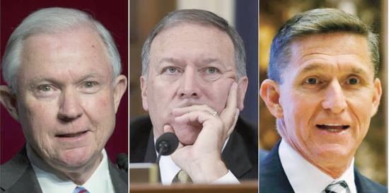 特朗普拟任三位鹰派要职 被指引美国向右急转