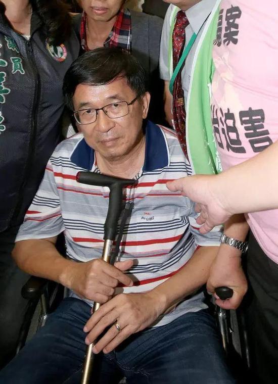 台湾嘉义县议会通过特赦陈水扁提案。(图片来源:台湾《联合报》)