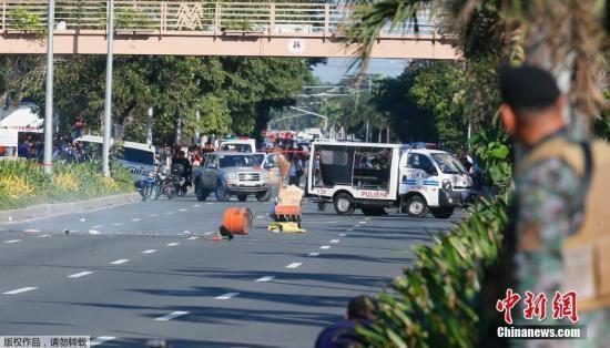 美国驻菲大使馆附近现土制炸弹 警方推测系恐袭