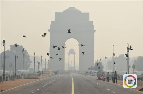 新德里雾霾袭城 印度最高法院下令禁售鞭炮
