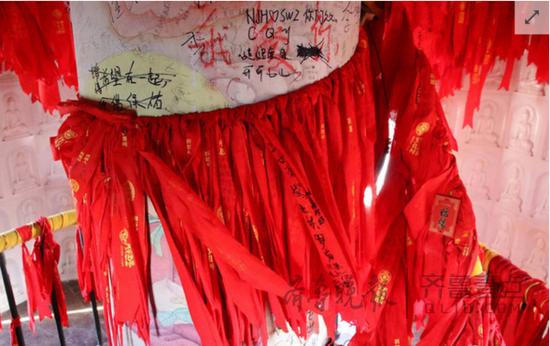 山东千年佛塔内壁遭游客涂鸦 修复资金困难(图) 新闻 第1张