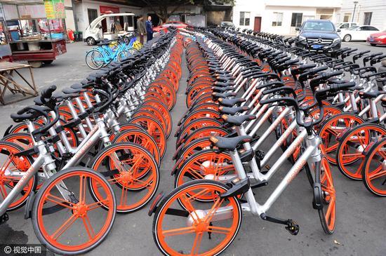共享单车。