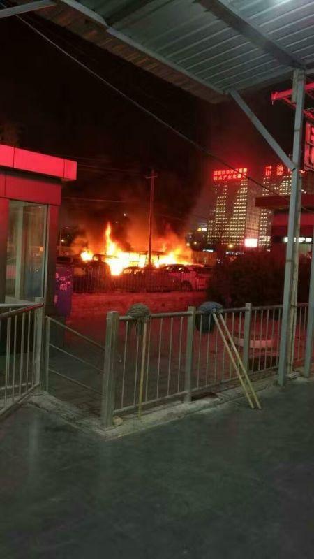 曝北京地铁9号线科怡路站停车场发生火灾