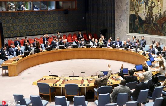 当地时间2016年11月30日,美国纽约,针对朝鲜9月份进行的第五次核试验,联合国安理会30日通过新一轮对朝制裁决议。