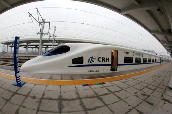 资料图片:中国高铁列车 新华社发