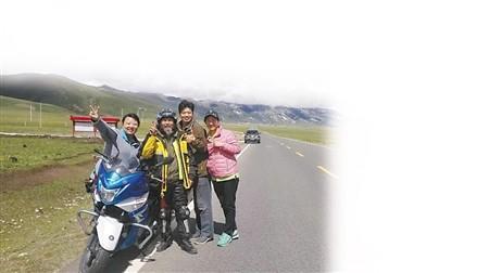 骑行西藏途中合影