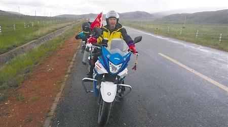 明开仁骑行西藏途中