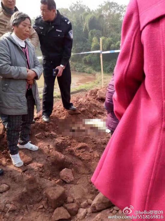村民 被活埋身亡现场。 村民 供图