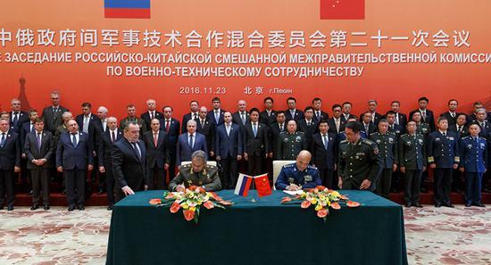 中俄政府间军事技术合作混合委员会第21次会议11目23日在北京闭幕,双方规划2018年新的军技合作。