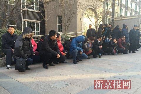今天下午的联合行动共抓捕涉嫌传销人员约70人。新京报记者 侯少卿 摄
