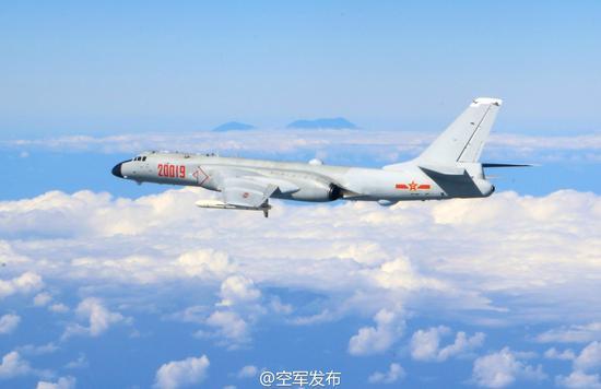 @空军发布 16日晚发布的照片