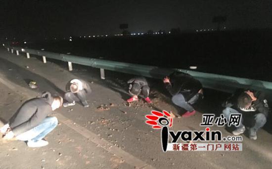 高支队特勤大队民警将6名嫌疑人抓获