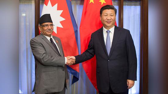 往年10月15日,国度主席习近平在印度果阿会面尼泊尔总理普拉昌达