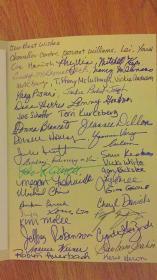 罗格斯大学商学院师生送给肖雅清的集体签名。