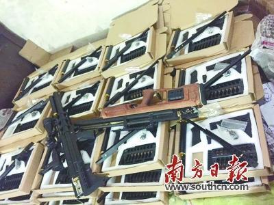 广东警方缴获的枪弹。