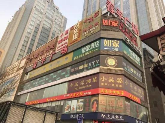 ▲春平广场外景图 新京报记者罗婷摄