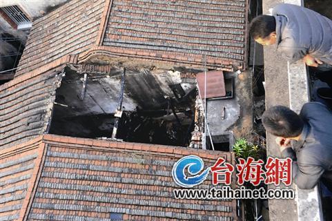 ▲事发屋宇被烧塌