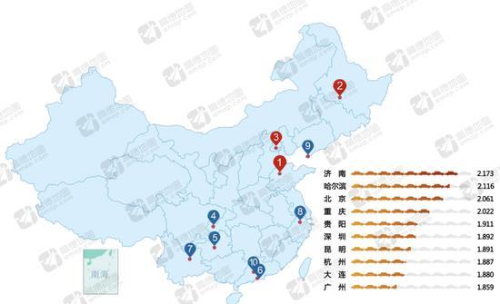 ▲2016年度中国10大堵城