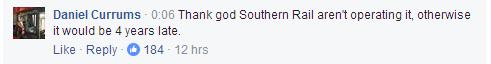 """""""感謝上帝,幸好不是南海岸鐵路公司來運營這趟列車,否則的話至少晚點四年。"""""""