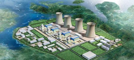 南阳核电厂效果图