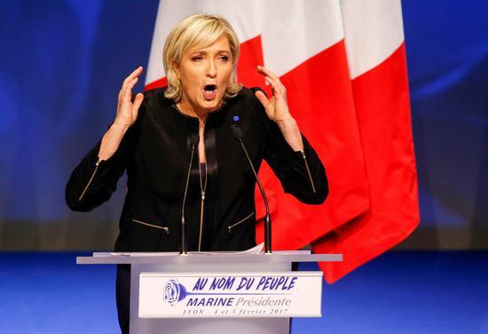 法国大选选战全面展开 极右翼女将承诺举行脱欧公投