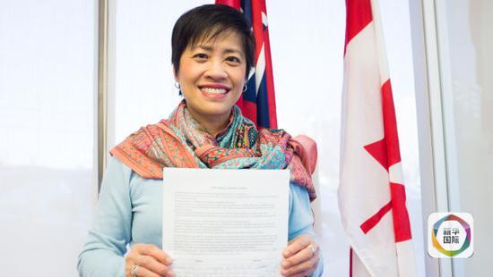 加拿大安粗略省省议会华侨议员黄素梅(报导员李海涛摄)