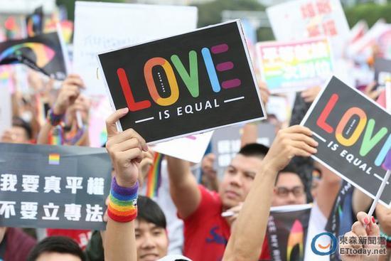 """台湾同性婚姻专法曝光:书面约定""""谁夫谁妻"""""""