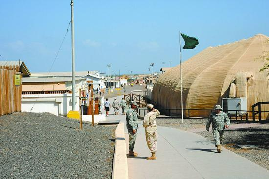 资料图:美军在吉布提军事基地