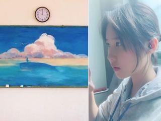 她画画好颜值高 还长得酷似刘亦菲