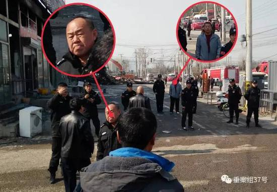 ▲ 红圈画出的两位保安,参与拖拽、放倒记者。