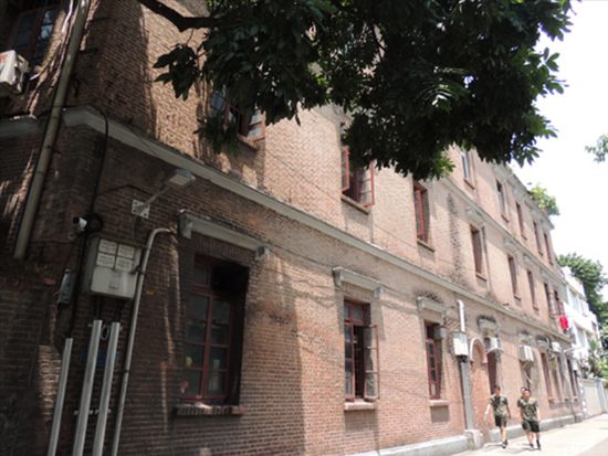 图为广州市的一处住宅,2月28日被韩国外交部证实为大韩民国临时政府旧址