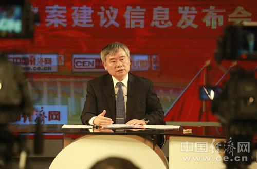 3月2日,全国人大代表、清华大学政治经济学研究中心主任、教授、博士生导师蔡继明两会议案建议信息发布会在中国经济网演播厅举行。中国经济网记者 王岩 摄