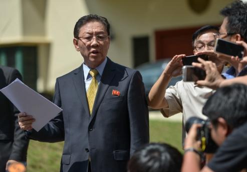 朝鲜驻马来西亚大使姜哲。资料图